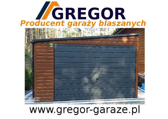 Garaż blaszany blaszak drewnopodobny 4x5 producent ocynk kolor
