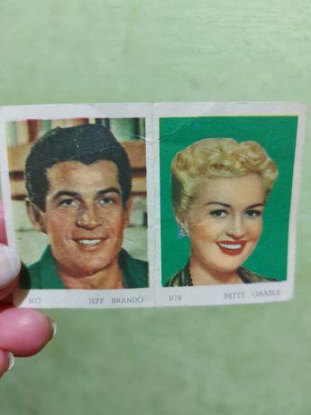 Виниловые карточки с фото актеров 1950 год