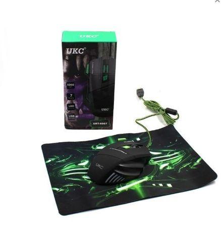 Мышка игровая GAMING MOUSE UKC X7S 7D + коврик игровая мышь