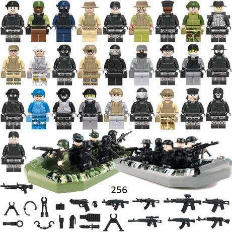 28 фигурок Лего военных 2 лодки swat спецназовцы армия лего Lego