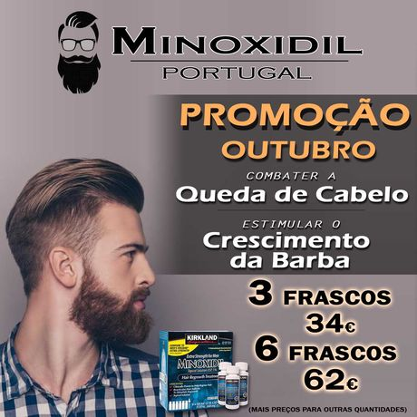 Minoxidil 5% Kirkland   PROMOÇÃO DE OUTUBRO   Minoxidil Portugal