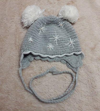 Rękodzieło Zimowa czapeczka 2-3 lata