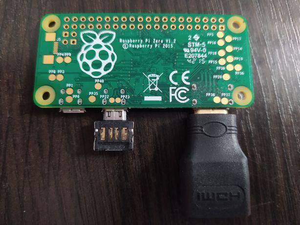 Raspberry Pi Zero v 1.2 + obudowa + przejściówki
