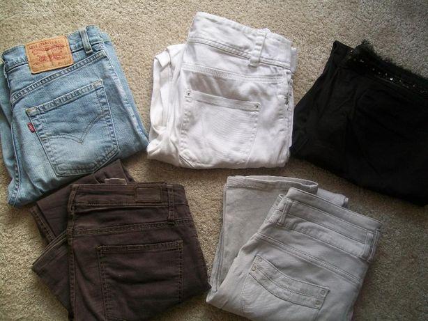 zestaw spodni Levis, H&M, Esprit, rozmiar M, 5 par, !!!