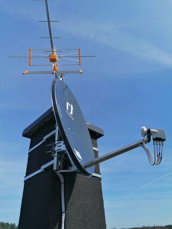 Montaż anten satelitarnych DVB-T ustawienie serwis