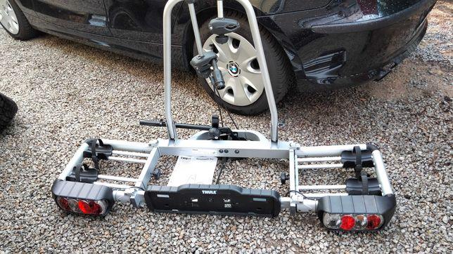 Bagażnik rowerowy składany Thule na hak na dwa rowery.