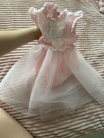 Крестильное платье-ромпер для девочки  68 р.