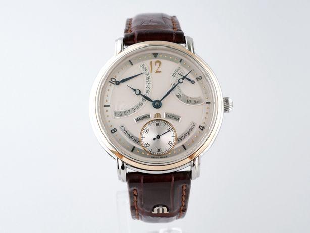 Мужские бу часы Maurice Lacroix Masterpiece Retrograde Calendrier 43мм