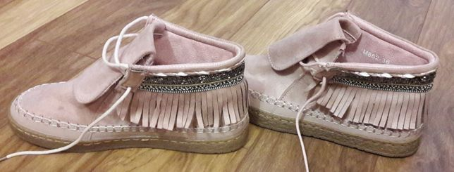 Buty z frędzelkami 36