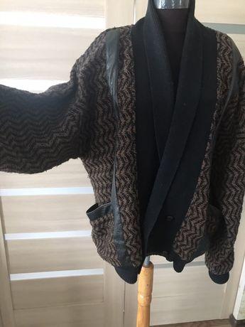 Вязаная кофта курточка винтаж