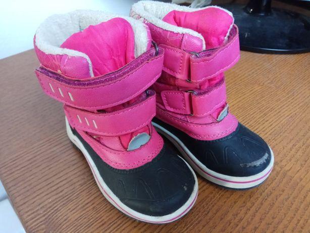 Śniegowce buty zimowe 22 różowe