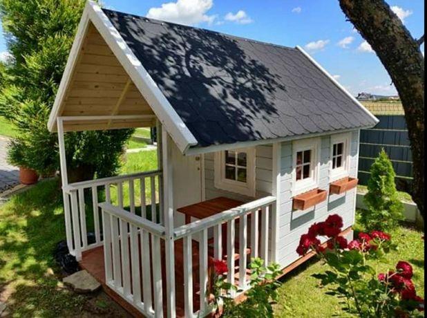 Drewniany domek dla dziecka, domek ogrodowy