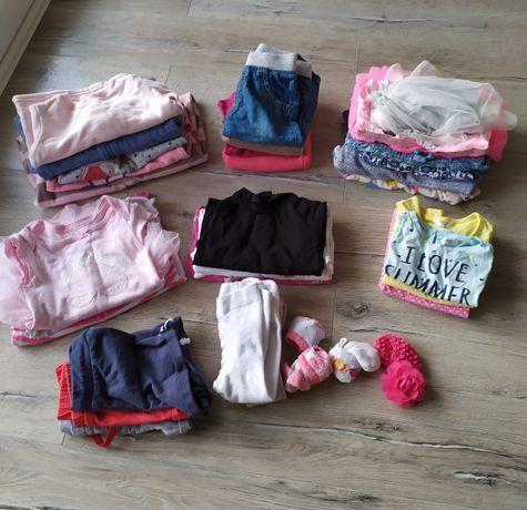 Zestaw, paczka ubranek dla dziewczynki rozmiar 74 (31 sztuk)
