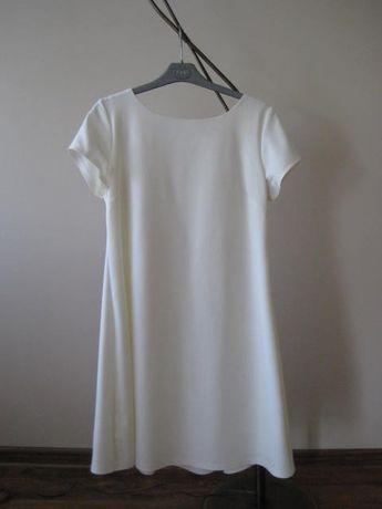 Sprzedam śliczną sukienkę rozmiar 42 kolor Ecru