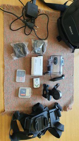Sony Action Cam X1000V + acessórios + baterias