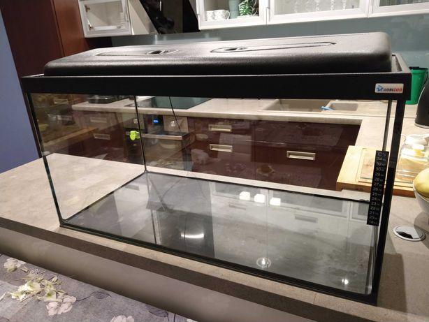 Akwarium 128 litrów 80x40x40 cm z wyposażeniem