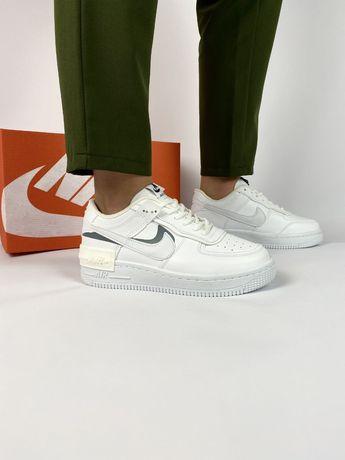 Женские кроссовки Nike Air force 1 shadow белые