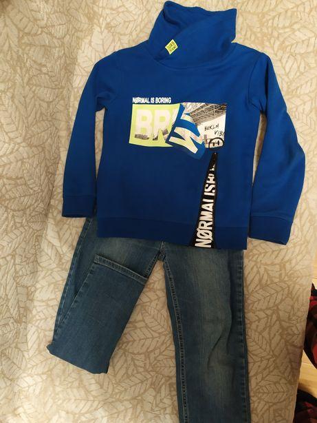 Кофта свитшот джинсы