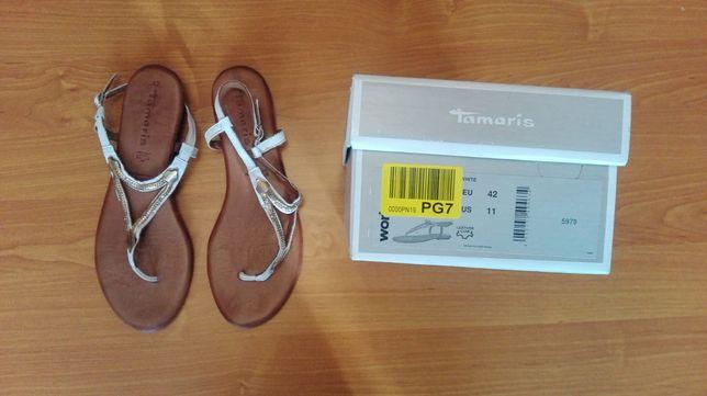 Nowe skórzane sandały Tamaris, r. 42