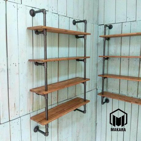 №27 Полка в стиле loft Industrial мебель лофт изделия из труб стеллаж