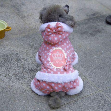 Nowy Różowy kombinezon ubranko dla psa York/Shih Tzu/Maltańczyk