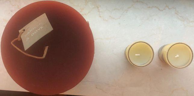 Lote de 3 Velas com copos — Baunilha & Dove [NOVAS]