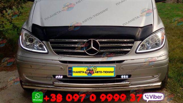 Кенгурятники Mercedes-Benz Vito 2003-2021 передній захист пороги
