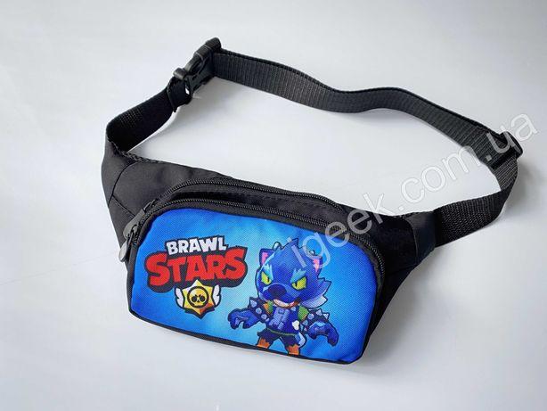 Бананка Brawl Stars поясная детская сумка через плечо/пояс Бравл Старс