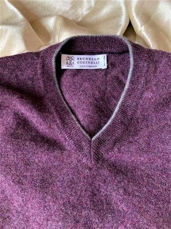 Мужской пуловер Brunello Cucinelli кашемир р.М-L свитер Loro Piana