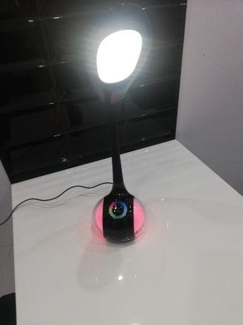 Lampka LED na biurko z kolorową, podświetlaną podstawą