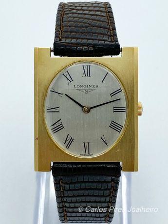 Relógio Longines Vintage OURO corda manual Square Model