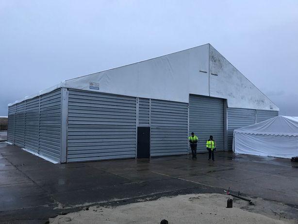 Hala aluminiowa  namiotowa25x20x4.5 używana blacha ścian dach plandeka
