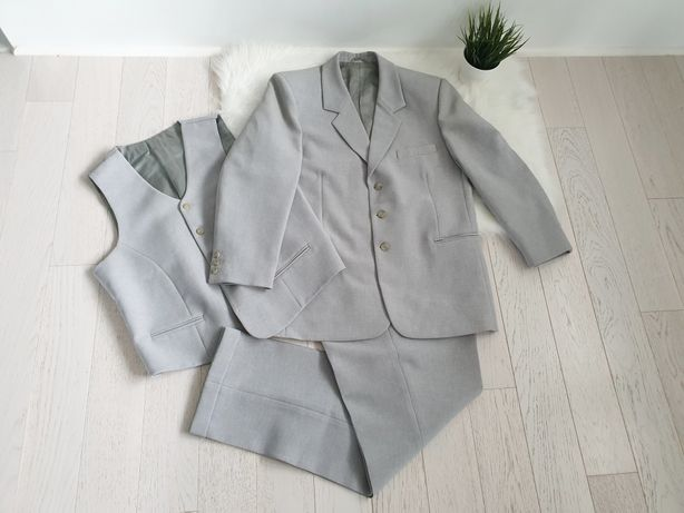Szary garnitur 3 części L/XL