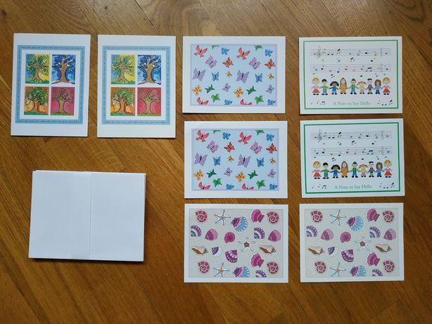 Листівки з конвертами, 8 шт., A note to say hello