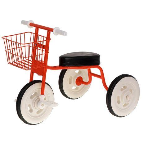 Rowerek trójkołowy z koszykiem czerwony