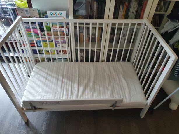 Łóżeczko dziecięce z materacem (niska barierka gratis)
