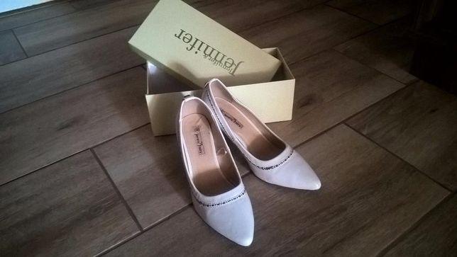Buty białe, ślubne