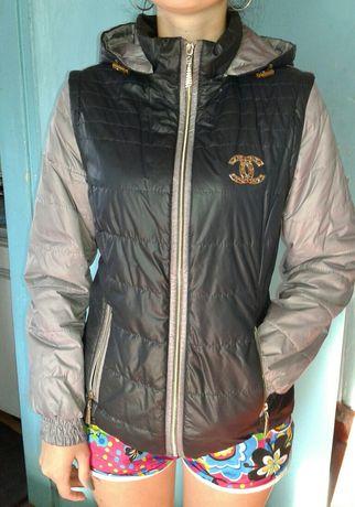 Осеняя куртка-желетка 2в1