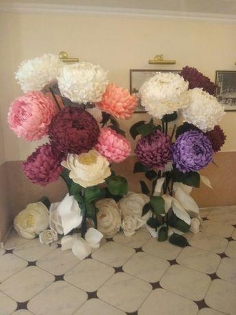 Квіти великі, арка весільна, банер, фотозона, декор свята