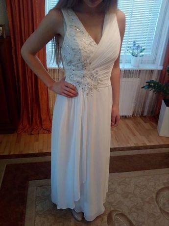 Biała długa suknia sukienka 36 S ślubna