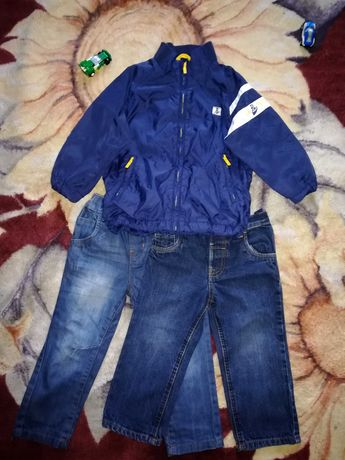Набор на мальчика. Ветровка, штаны(джинсы) 1,5-3 года.