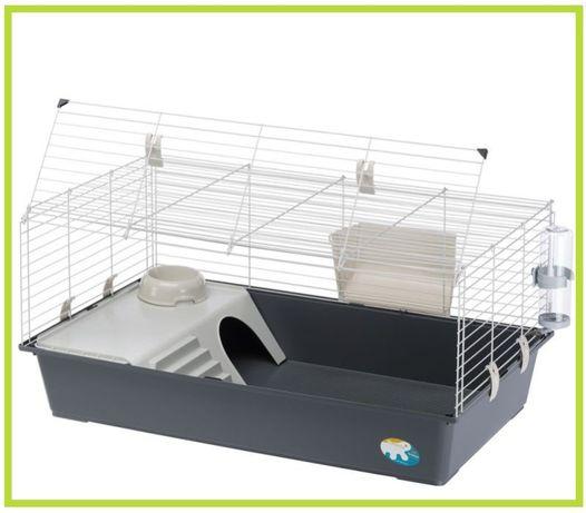 Klatka dla świnki morskiej / królika, 100 cm z wyposażeniem