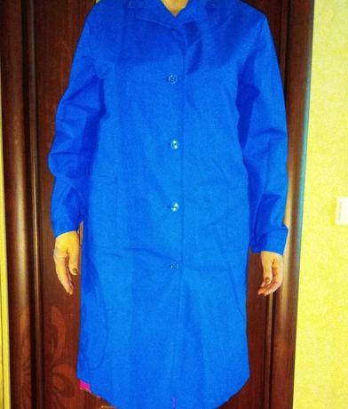 Халаты рабочие синие