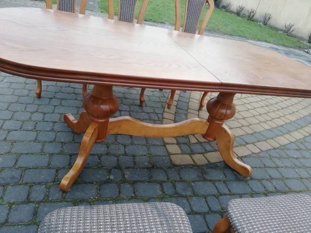 SUPER OKAZJA!! zestaw stół drewniany z sześcioma krzesłami