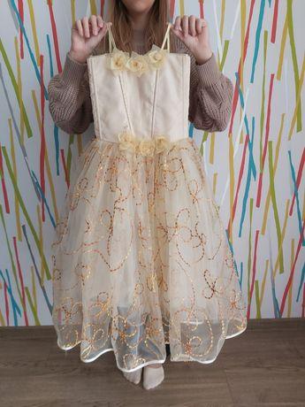 Платье нарядное на девочку 7-9 лет
