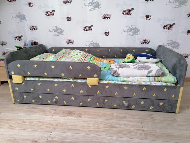 Łóżko dziecięce tapicerowane 160cm x 80cm
