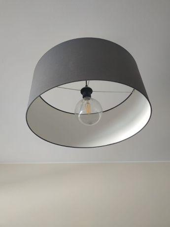 Candeeiro cinza com lâmpada LED