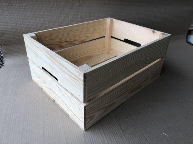 Skrzynka drewniana 40x30x18 super jakosc skrzynia kufer