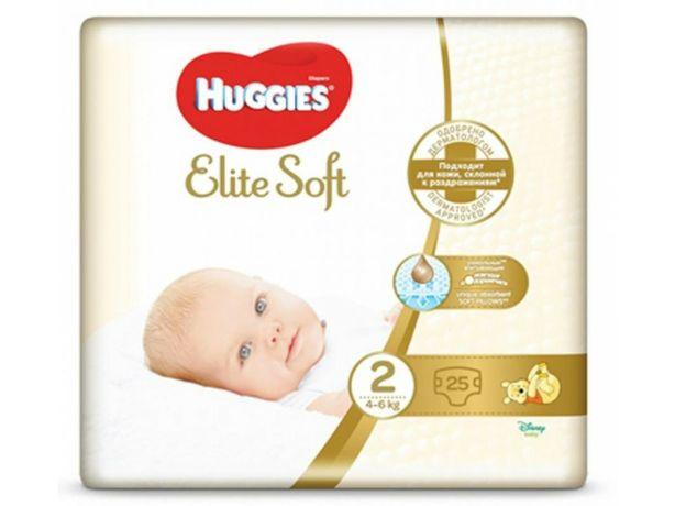 Одноразовые подгузники Huggies Elite Soft 2 25 шт