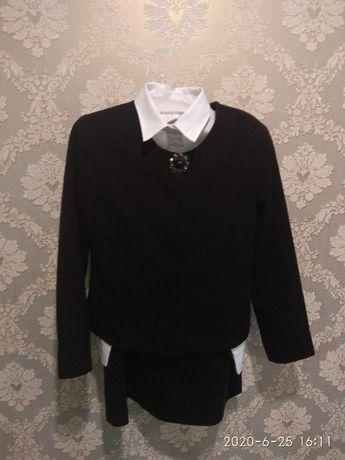 Школьная форма 1-3 класс. Комплект юбка, блуза, сараф, пиджак.